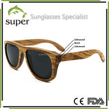 Layered Wood Sunglasses Polarized Darker Lens Fashion Woody glasses Unisex
