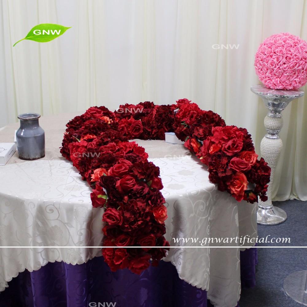 Gnw Flw1606006 Gar High Quality Red Silk Flower Wall Backdrop For