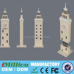 3D building usb thumb gadbet, Custom PVC Castle tower shape usb flash drive, Architectural big ben shape usb sticks promotional