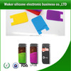 Silicone pockets ID card/money/key holder for phone/cases