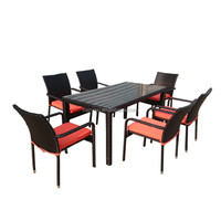 project used rattan furniture outdoor table with umbrella hole