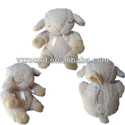 Baby sheep plush toy like a cloud in sky
