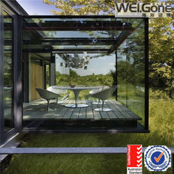 tempered reflective glass outdoor glass room