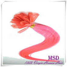 2014 hot selling bright color u-tip hair