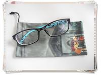 Heat transfer soft microfiber sunglass pouch, eyeglass case