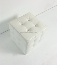 Fancy Home Footstool & Ottoman, Cube Glossy PU Leather Ottoman