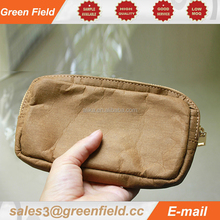 High qualtily craft paper cell phone bag,wash paper cell phone bag