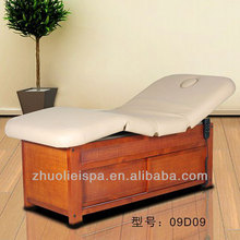 Solid wood Functional Electric Thai style SPA massage bed (09D09)