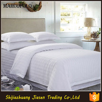 300TC Hotel Satin Stripe White Bedding Set/Hotel 3cm Stripe Duvet Cover
