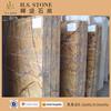 Natrual Golden Brown Marble Exterior Tiles Floor Slab Fancy Brown Marble