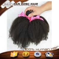Wholesale cheap 7a grade unprocessed brazilian kinky curly remy hair weave for black women