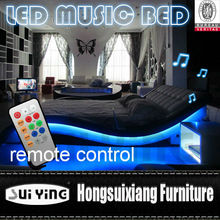 A044-1 2014 newest design LED light furniture modern music bed