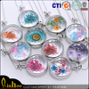 Rinhoo jewelry factory new arrival fashion dried flower glass bottle necklace
