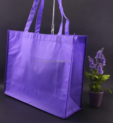 purple large non woven carry shopping bag /all types of non woven bag printing /non woven bags manufacturers from China