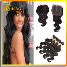 Aliexpress Brazilian Guangzhou Natural Hair Free Weave Hair Packs Peruvian Brazilian Hair With Closure