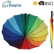 Alibaba promotional rainbow umbrella latest gift items 2015
