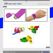 silicone slap bracelet usb flash drive 8gb 4gb ,custom wristband usb , corporate gifts usb pen