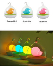 Fancy Birdcage Design Small LED Touch Light USB Rechargable Baby Night Light for Room Decoration and Night Activity