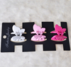 Hair accessories manufacture claw plastic butterfly hair clip for promotional gift