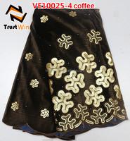 italian velvet fabric velvet dresses for girls of VE10025 coffee