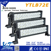 72W Off Road LED Light Bar C.r.e.e 31.5 Inch Spot/Flood/Combo Beam ATV Working Lights Colorful Flash LED Working Light Bar