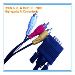 female vga to rca cable 3ft 6ft 10ft