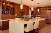 2015 modern anitque melamine wooden grain used kitchen cabinet doors self assemble