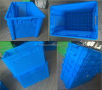 Nestable plastic dislocation storage crate for produce