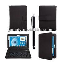 Newest Bluetooth Keyboard Leather Case For Samsung Galaxy Note 10.1 N8000