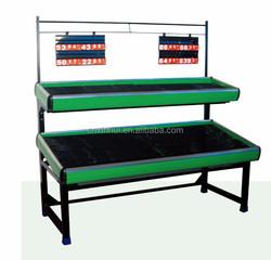 Vegetable and fruit shelving racks