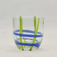Hand blown creative solid color decoration whisky glass cup