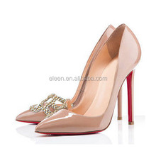 Sexy high heel shoes with decoration party shoes for ladies