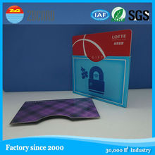 OEM printed Credit Card Holder Wallet secure Aluminum rfid blocking wallet for RFID card