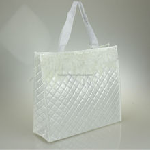 Glossy laminated non woven shopping bag, non-woven bag for promotional