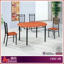 1302-2B Dining tables wood made in china/dining table set wood/wood dining table designs