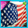 100% cotton USA flag velour reactive printed beach towel