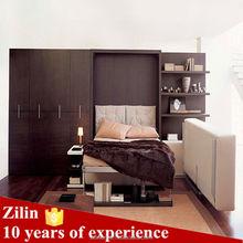Multifunctional space saving sofa wall bed , environmental protection folding sofa wall bed, put down bed