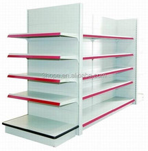 stainless steel supermarket shelf/Island Gondola shelving Systems for hypermarket