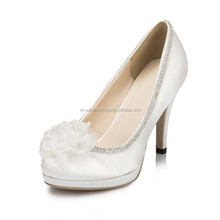 Special Bridal Wedding Shoes For Women White High Heel Women Dress Sheos