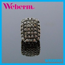 Weberm vitage adjustable ring bronze diamond ring fashion