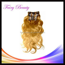 Alibaba china factory price can make clip remy brazilian human Hair Extension