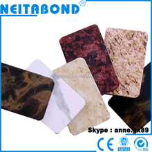 New design PVDF 3mm 4mm marble aluminum composite panels wall panels for widely used decoration