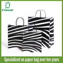 Good quality hot-sale luxury shopping black paper bag