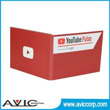 Fabrik-versorgungsmaterial 600 mah lcd video Broschüre mit cmyk-druck