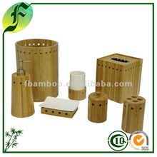 Hot Sale Natural Eco-friendly Durable Morden Green Home Wooden Bamboo Bathroom Accessory