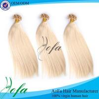 Double drawn 100% virgin remy hair extensions u tip hair 1 gram/strand