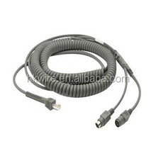 CBA-K08-C20PAR PS/2 POWER PORT COILED KEYBOARD WEDGE CABLE FOR Symbol DS3408 Industrial 2D Bar Code Scanner