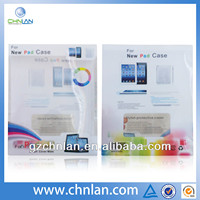 printing plastic package for New pad case with pvc hanger