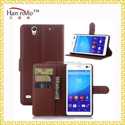 For Sony XPERIA C4 phone cover, Lichee Pattern PU Leather phone case for Sony XPERIA C4