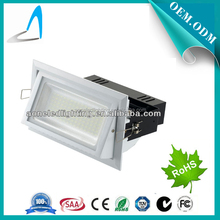 SAA CE ROHS rectangular and adjustable 28w/38w/45w led shop light surface mounted led commercial downlight